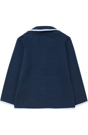 Пиджак джерси с контрастной окантовкой | Фото №2