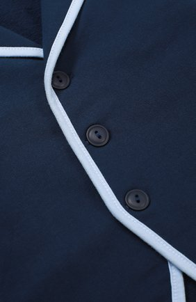 Детский пиджак джерси с контрастной окантовкой SANETTA FIFTYSEVEN синего цвета, арт. 901379   Фото 3