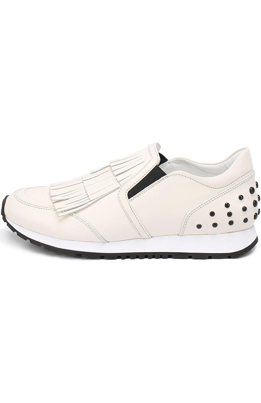 Кожаные кроссовки Sportivo с бахромой   Фото №3