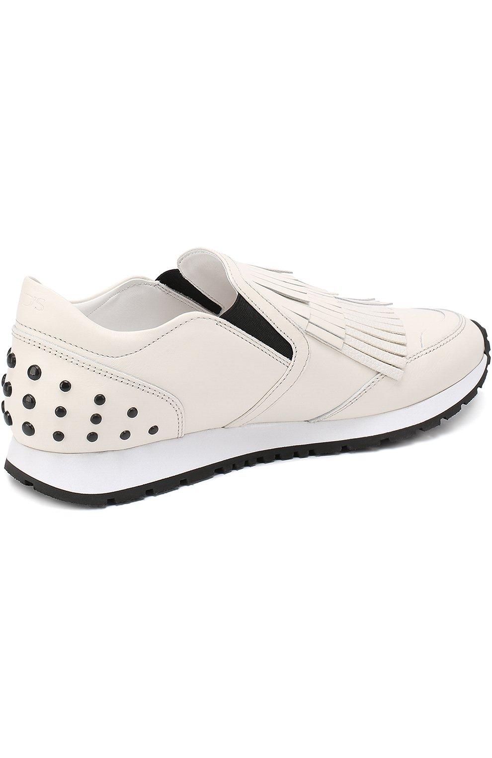 Кожаные кроссовки Sportivo с бахромой   Фото №4