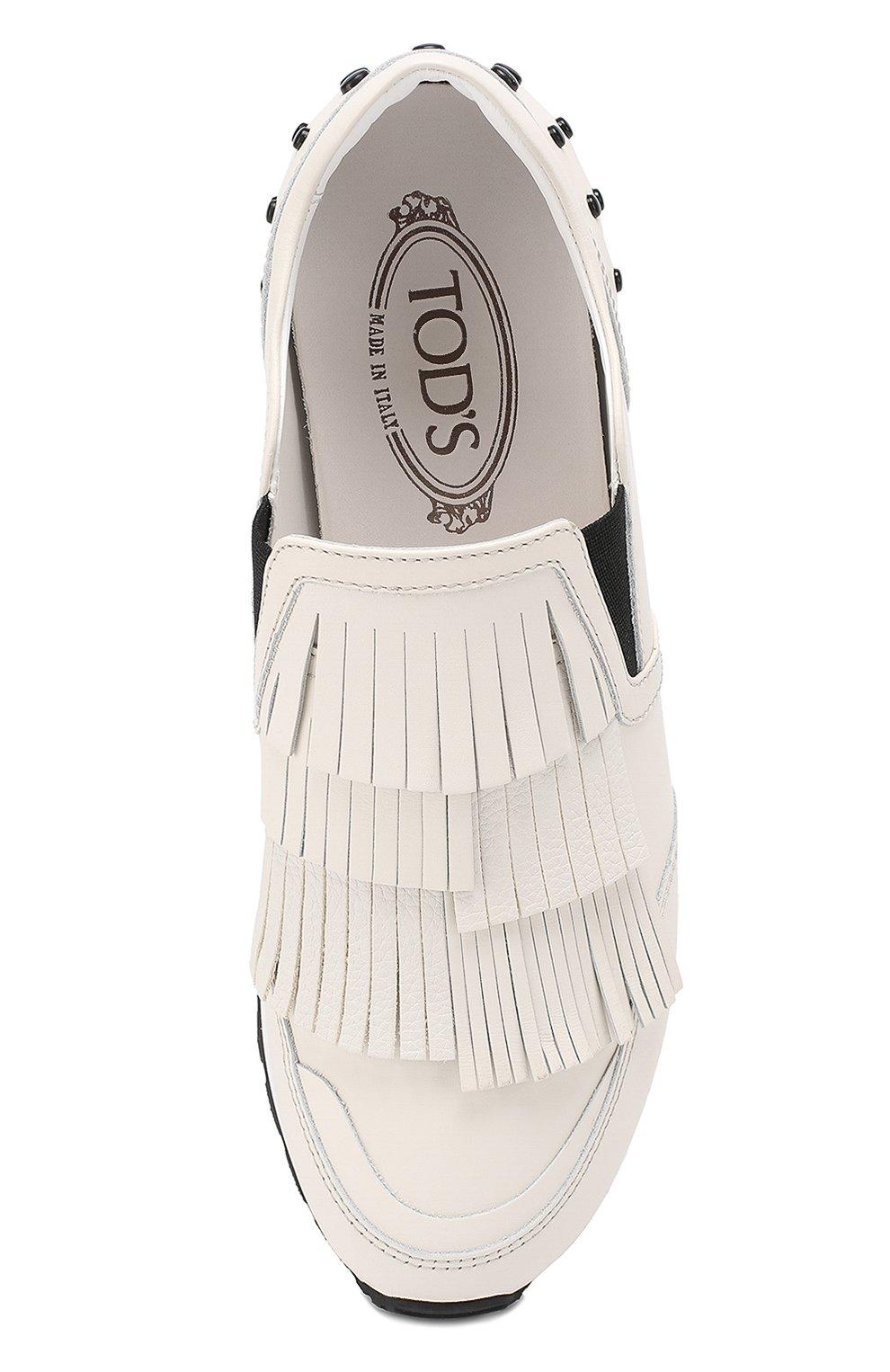 Кожаные кроссовки Sportivo с бахромой   Фото №5