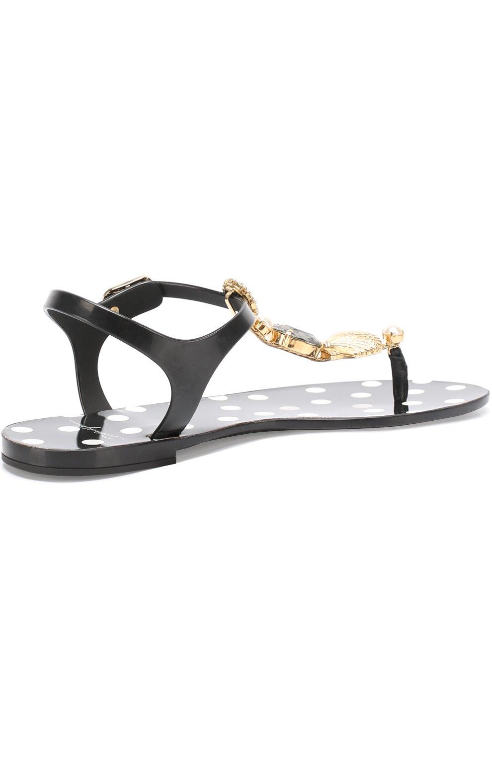 Резиновые сандалии с кристаллами   Фото №4