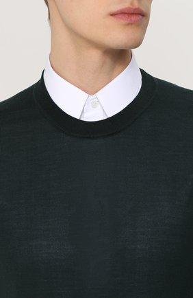 Шелковый джемпер тонкой вязки Dolce & Gabbana зеленый | Фото №5