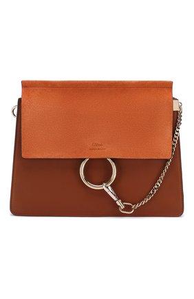 Женская сумка faye medium CHLOÉ светло-коричневого цвета, арт. 3S1231/H20   Фото 1