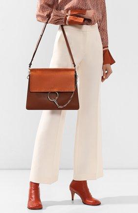 Женская сумка faye medium CHLOÉ светло-коричневого цвета, арт. 3S1231/H20   Фото 2