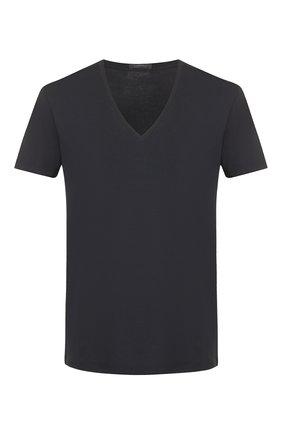 Мужские хлопковая футболка LA PERLA черного цвета, арт. P022169 | Фото 1