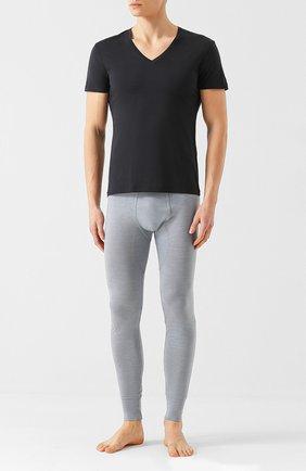 Мужские хлопковая футболка LA PERLA черного цвета, арт. P022169 | Фото 2