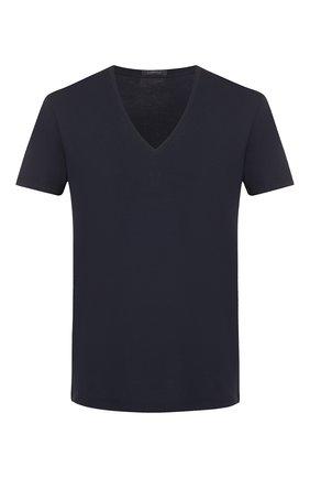 Мужские хлопковая футболка LA PERLA темно-синего цвета, арт. P022169   Фото 1