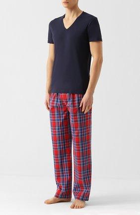 Мужские хлопковая футболка LA PERLA темно-синего цвета, арт. P022169   Фото 2