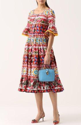 Сумка Rosaria Dolce & Gabbana голубая цвета | Фото №2
