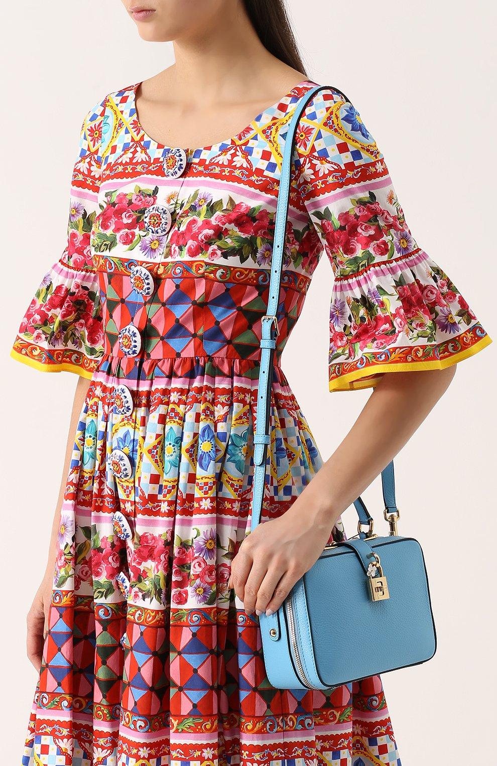 Сумка Rosaria Dolce & Gabbana голубая цвета | Фото №5