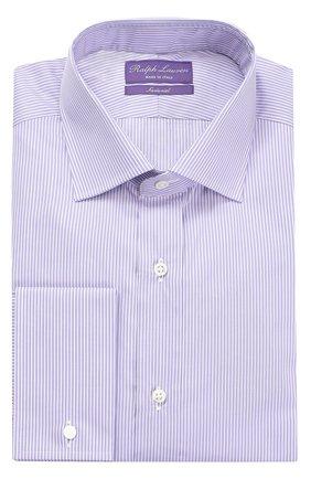 Мужская хлопковая сорочка с воротником кент RALPH LAUREN светло-сиреневого цвета, арт. P02/XZ4H1/XY4HP | Фото 1