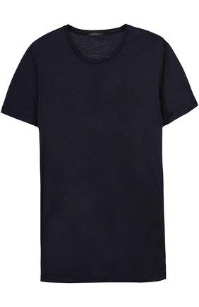 Мужские хлопковая футболка с круглым вырезом LA PERLA темно-синего цвета, арт. 0020151 | Фото 1