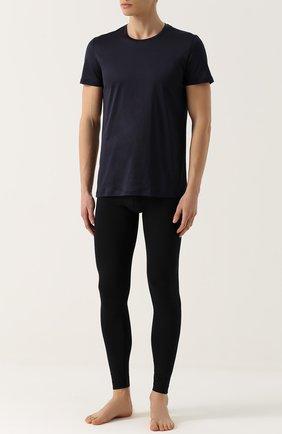 Мужские хлопковая футболка с круглым вырезом LA PERLA темно-синего цвета, арт. 0020151 | Фото 2