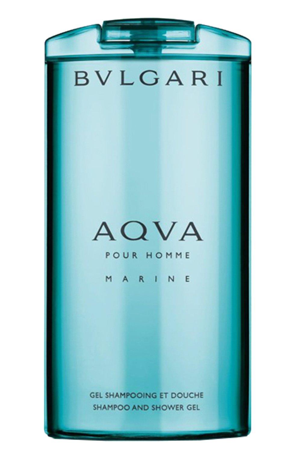 Мужского шампунь и гель для душа aqva marine (200ml) BVLGARI бесцветного цвета, арт. 91526BVL   Фото 1 (Статус проверки: Проверена категория)