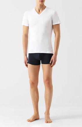 Мужские футболка из смеси хлопка и вискозы с v-образным вырезом LA PERLA белого цвета, арт. 0022507 | Фото 2