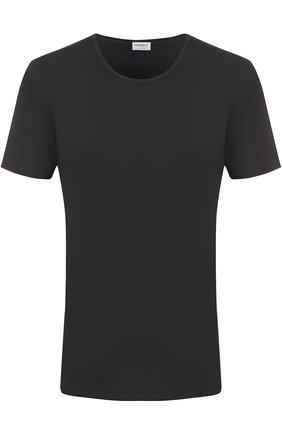 Мужская хлопковая футболка с круглым вырезом ZIMMERLI черного цвета, арт. 172/1461 | Фото 1