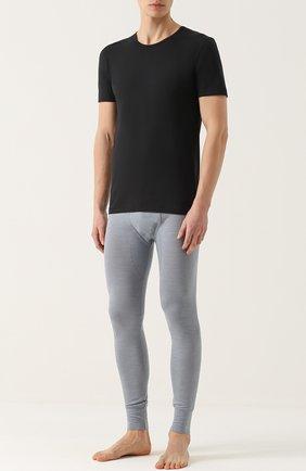 Мужская хлопковая футболка с круглым вырезом ZIMMERLI черного цвета, арт. 172/1461 | Фото 2