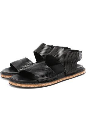 Кожаные сандалии с перфорацией | Фото №1