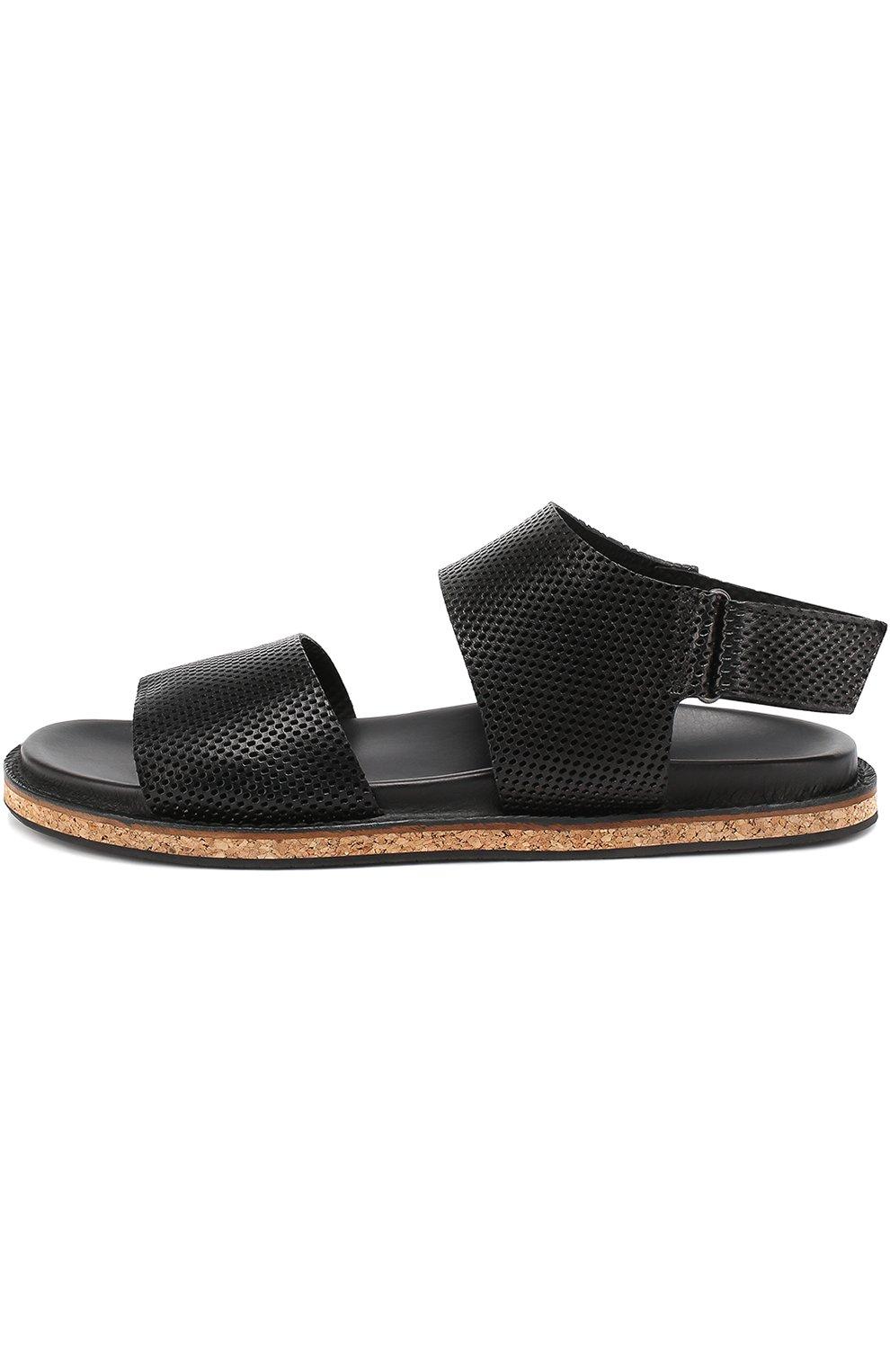 Кожаные сандалии с перфорацией   Фото №3