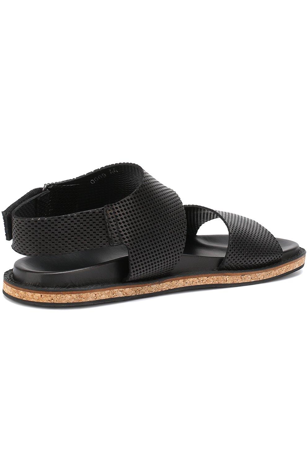 Кожаные сандалии с перфорацией   Фото №4