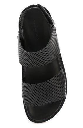 Кожаные сандалии с перфорацией   Фото №5
