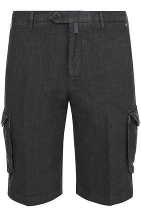 Льняные шорты с накладными карманами | Фото №1