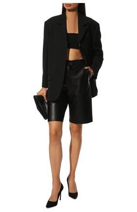 Женская замшевые туфли romy 100 JIMMY CHOO черного цвета, арт. R0MY 100/SUE | Фото 2