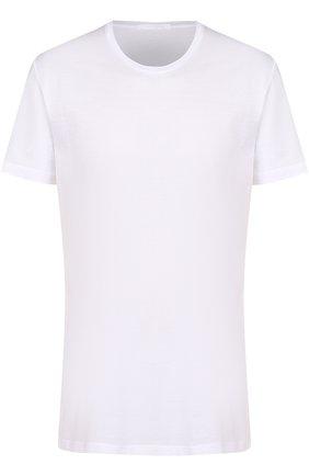 Мужские хлопковая футболка с круглым вырезом LA PERLA белого цвета, арт. 0020151 | Фото 1
