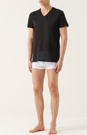 Мужские хлопковая футболка с v-образным вырезом LA PERLA черного цвета, арт. 0020152 | Фото 2