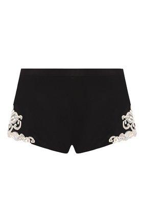 Женские шелковые шорты LA PERLA черно-белого цвета, арт. 0019228 | Фото 1