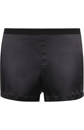 Женские шелковые мини-шорты с лампасами LA PERLA черного цвета, арт. 0017229 | Фото 1