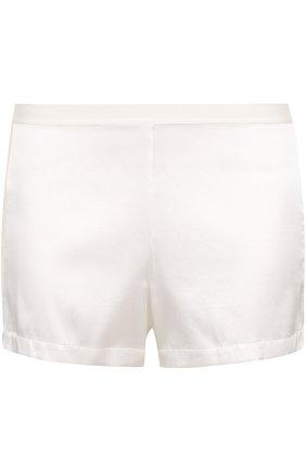 Женские шелковые мини-шорты с лампасами LA PERLA кремвого цвета, арт. 0017229 | Фото 1