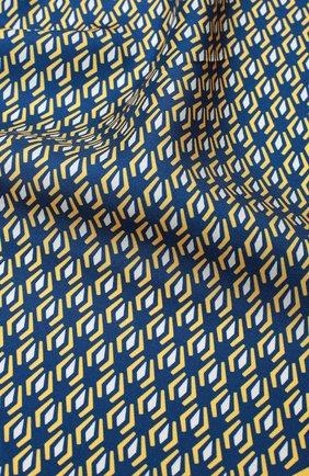 Мужской шелковый платок с узором KITON желтого цвета, арт. P0CH/8N17 | Фото 2