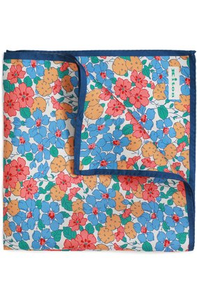 Мужской шелковый платок с узором KITON разноцветного цвета, арт. P0CH/8N17   Фото 1