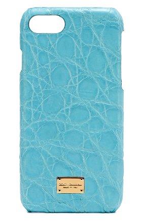 Чехол для iPhone 7 из кожи крокодила Dolce & Gabbana    Фото №1