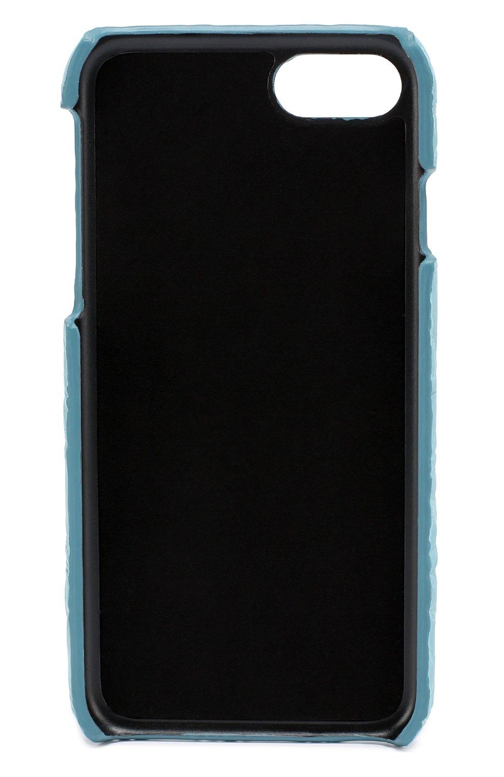 Чехол для iPhone 7 из кожи крокодила Dolce & Gabbana    Фото №2