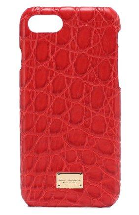 Чехол для iPhone 7 из кожи крокодила Dolce & Gabbana  | Фото №1
