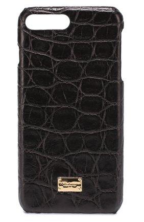Чехол для iPhone 7 Plus из кожи крокодила Dolce & Gabbana  | Фото №1