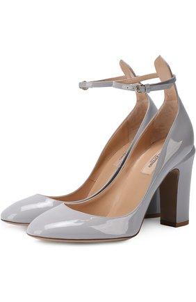 Лаковые туфли Valentino Garavani Tan-Go с ремешком на щиколотке | Фото №1