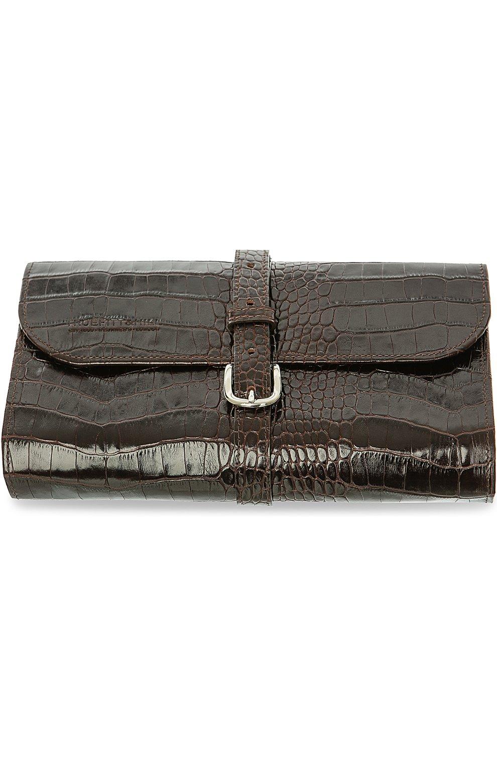 Мужская кожаный несессер TRUEFITT&HILL коричневого цвета, арт. 90002   Фото 1 (Статус проверки: Проверена категория)