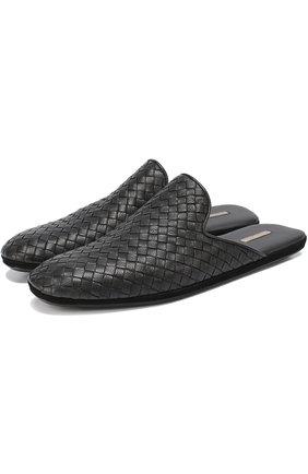 Домашние кожаные туфли с плетением Intrecciato | Фото №1