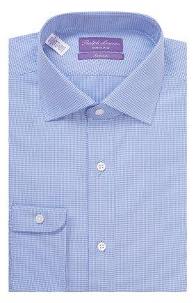 Мужская хлопковая сорочка с воротником кент RALPH LAUREN голубого цвета, арт. P02/XZ4FQ/XY4H0 | Фото 1