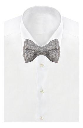 Мужской галстук-бабочка из смеси льна и шелка TOM FORD бежевого цвета, арт. 9TF054CH | Фото 2