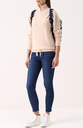 Высокие кожаные кеды Lauren | Фото №2