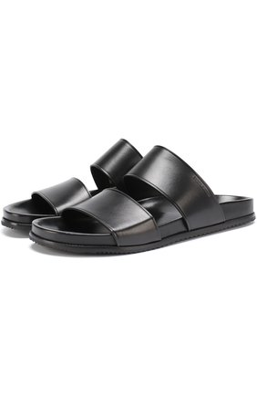 Кожаные сандалии с широкими ремешками   Фото №1