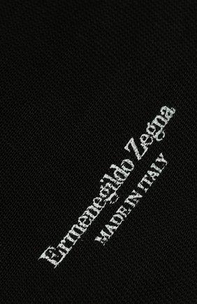 Мужские хлопковые носки ERMENEGILDO ZEGNA черного цвета, арт. N4V400020 | Фото 2