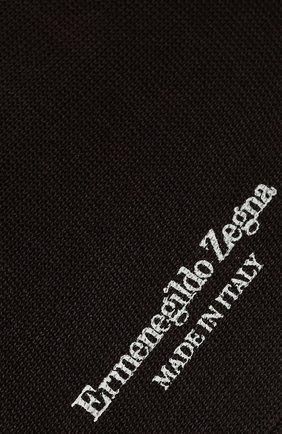 Мужские хлопковые носки ERMENEGILDO ZEGNA коричневого цвета, арт. N4V400020 | Фото 2 (Материал внешний: Хлопок; Кросс-КТ: бельё)