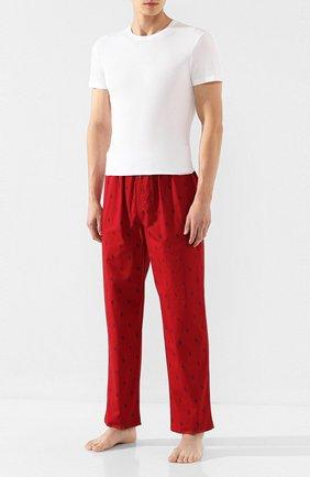 Мужские хлопковая футболка  LA PERLA белого цвета, арт. P022168   Фото 2