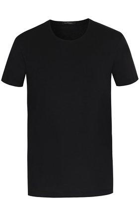 Мужские хлопковая футболка  LA PERLA черного цвета, арт. P022168 | Фото 1